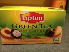 Drinking this YUMMY peach green tea for the first time as I write this post. Change is delicious!