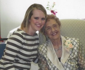 This was on her 95th birthday. What a good day.